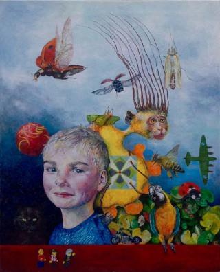 """""""Christian"""" – 2014 - akryl på lærred - 81 x 65 cm - privat"""