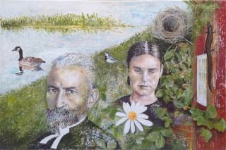 """""""Näset"""" – 2012 - akryl på lærred - 60 x 90 cm - Solgt"""