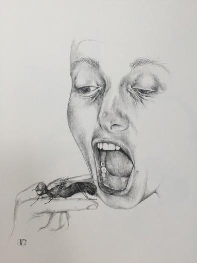 """""""Smassansen - udvikling eller afvikling"""" - 2016 - blyant 40x30"""