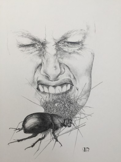 """Lugtesansen - er det natur?"" - 2017 - blyant 40x30"