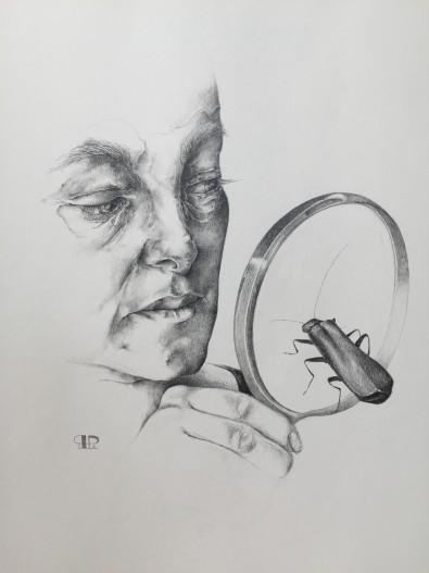 """""""Synssansen - at se eller ikke se"""" 2016 - blyant 40x30"""
