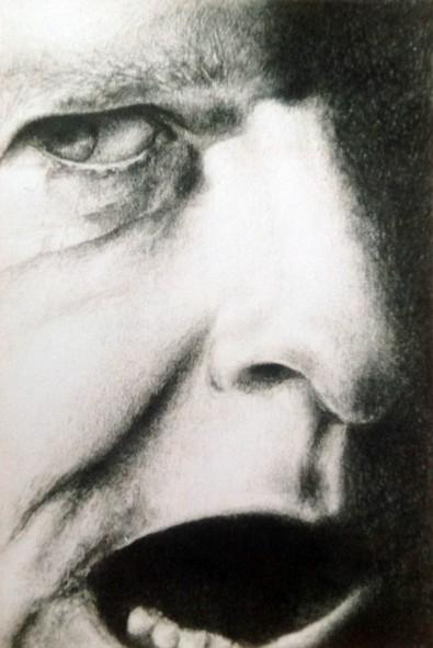 """""""Afgørelsen3"""" – 2000 - blyant  på papir - 13 x 9 cm – solgt - Tegning af Pernille Helleskov Pedersen"""