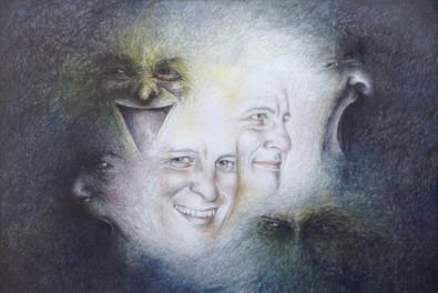 Mit lyspunkt  - Akvarel af Pernille Helleskov Pedersen