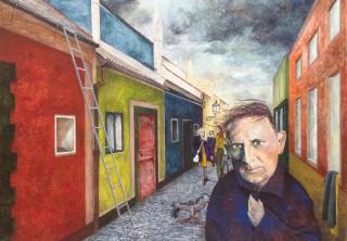 """""""Blæst"""" - 2014 - akryl på lærred - 89 x 116 cm - SOLGT"""